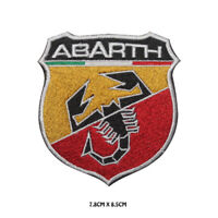 ABARTH Racing Car Brand Logo Embroidered Iron on Patch Sew On Badge