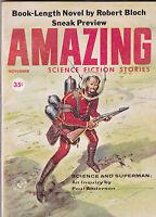 NOV 1959 - AMAZING STORIES - vintage science fiction  pulp magazine