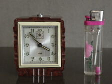 old RETRO Alarm Clock jaz Art Deco Mechanics century Vintage French wecker