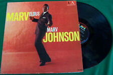 Marv Johnson Marvelous Jazz LP MONO United Artists UAL 3081 Piranha Records