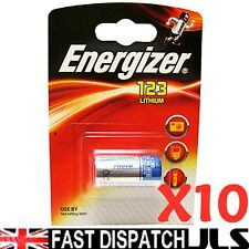10 X Energizer Litio Cr123 Cr123a 123 Foto Pilas