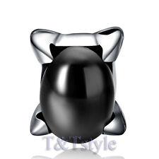 High Quality T&T 316L Stainless Steel Black Onyx Stud Earring Single (EZ36)