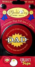World's #1 Best Dad 'Special Day' Ice Hockey Puck - Father's Keepsake New