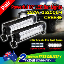 Pair 10'' 252W LED CREE 5D LENS LED Light Bar Spot Work 4WD OFFROAD Boat Driving