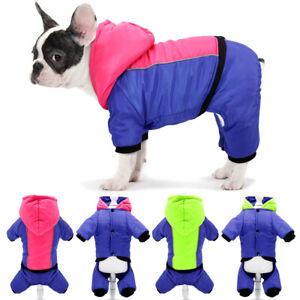 Waterproof Small Dog Coat Jacket Winter Warm Puppy Jumpsuit Snowsuit & Hooded