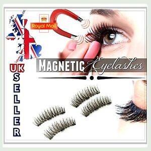 Double Magnetic Eyelashes Reusable False Eye Lashes Triple Magnet & Extension