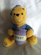 """Disney Winnie The Pooh Baby Plush Night Light Up Pajamas Hunny Pot 7"""" Crib Toy"""