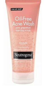 Neutrogena Pink Grapefruit Oil- Acne Wash Foaming Scrub 6.7 FL Oz