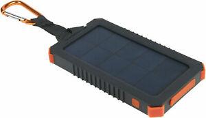 XTORM Solar Charger Impulse Powerbank 5000 mAh Schwarz/Orange Akku Ladegerät