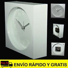 Reloj Despertador Analógico Sobremesa con Alarma  de Diseño color Blanco Mesita