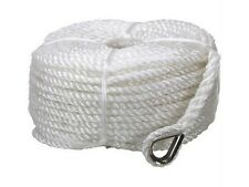 8mm X 50m SILVER ANCHOR BOAT ROPE MOORING LINE STAINLESS THIMBLE YACHT MARINE #1