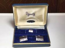 Finolet Sterling Cuff links and Tie Clip Set