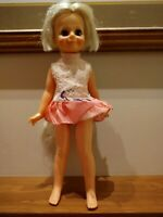 """Vintage Ideal 1971 Crissy 16"""" Doll Growing Hair Wind Up"""