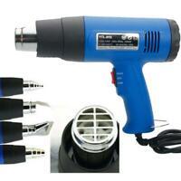 Heat Gun Hot Air Gun Dual Temperature 4 Nozzles Power Tool 1500W Paint Stripper