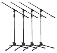 (4 Pack) Gator RI-MICTP-FBM Rok-It Tripod Microphone Stand with Fixed Boom