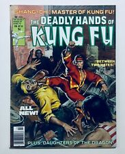 DEADLY HANDS OF KUNG FU #33, (1977), SHANG-CHI, BRUCE LEE Photos, VF-NM, 9.0-9.2