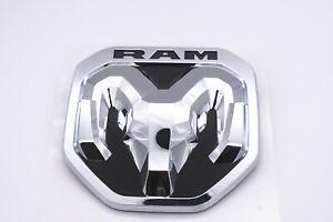 2019-2021 DODGE RAM Chrome Tailgate RAM's Head Emblem Medallion NEW