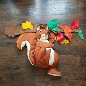 Vtg Vintage Fall Autumn Squirrel Leaves Windsock 3D by WindSport Flag Banner