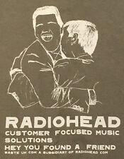 Vintage Rare Radiohead Customer Focused Music Solutions Shirt W.A.S.T.E. L 1999