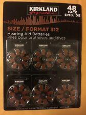 48ct Kirkland Signature Hearing Aid Batteries #312 Zinc Air Long Lasting NEW!