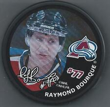 Ray Bourque  InGlasCo  Photo Hockey Puck  Colorado Avalanche -  in puck holder