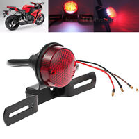 Number License Plate Rear Motorcycle Tail Brake Stop Red Light Lamp Universal AU
