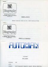ROBERT LANSING GERALD S O'LOUGHLIN AUTOMAN ORIGINAL 1983 ABC TV PRESS MATERIAL