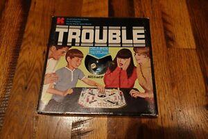 Vintage 1970's Trouble Board Game by Kohner Bros. #310