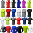 Mens Compression Baselayer Tight Vest Tops Short Long Sleeve T-Shirt Undershirt