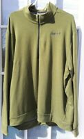 Men's Nike DRI-FIT 1/4 Zip Long Sleeve Pullover Activewear Shirt Green Size XXL