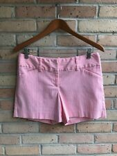 "Ann Taylor Coral & White Striped Seersucker 5"" Shorts - size 4 EUC FAST SHIP"
