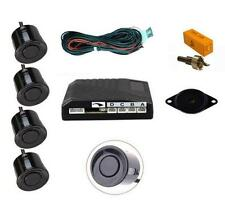 BLACK 4 Point Rear Parking Sensor Kit with Speaker / Buzzer Universal Fit VOLVO