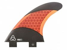 Carbon Fiber Surfboard Fins, FCS Compatible (Set of 3), Medium Orange