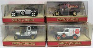 4 Matchbox Models - Ford Vans, Taxi & Mercedes Sports Car - Boxed - (3433)