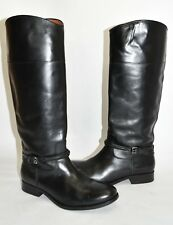 $440+ Frye Melissa Seam Boot MOTO RIDING BLACK LEATHER EXTENDED CALF 8 (K5)