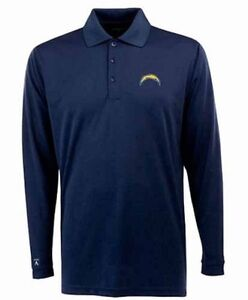 """NWT Mens San Diego Chargers """"Exceed"""" Desert DryXtra-Lite Long Sleeved Polo XL"""