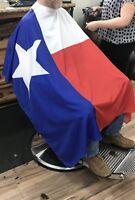 Large Nylon Texas Flag Barber Hair Cutting Cape
