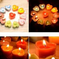 6pcs Romantic Heart Shape Scented Tealight Candles Fragrance Aroma Wedding Decor