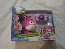 Auldey Sprout Super Wings Dizzy Dance and & Transform R/C RC Pink Helicopter