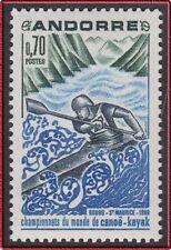 1969 ANDORRE N°196** Championnat du monde CANOE KAYAK, French Andorra  MNH