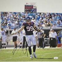 Autographed/Signed JJ J.J. WATT Houston Texans 11x14 Football Photo JSA COA Auto