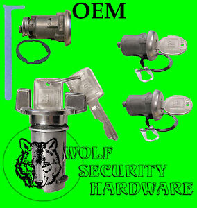Cadillac OEM Ignition Door Trunk Lock Key Switch Cylinder Set with GM Keys