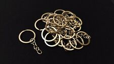 Bulk 50 Stainless Steel Metal Split Keychain Key Ring Chain Making Findings 24mm
