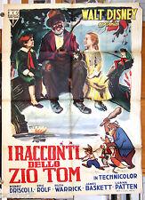 manifesto 2F film I RACCONTI DELLO ZIO TOM Walt Disney reale+ animazione 1950 GM