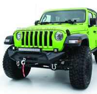 "18-19 Jeep Wrangler JL Stubby X Front Bumper+21"" LED Light Mount +Winch Plate"