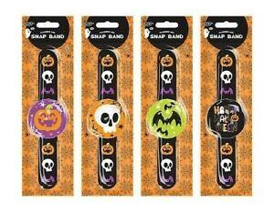 Halloween LED Flashing Snap Band Kids Light up Bracelet Night Time Safety Lights