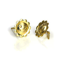 9ct Gold Smiling Sun Andralok Stud Earrings Smiley Studs Suns