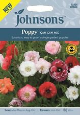 Johnsons - Flower - Poppy Can-Can Mix - 1000 Seeds