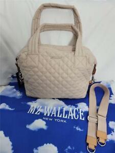 NWT MZ WALLACE Medium Sutton in Mushroom Beige with  Crossbody Strap  & Dust Bag