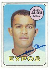 Autographed JESUS ALOU Montreal Expos 1969 TOPPS card #22 w/COA